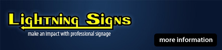 Lightning Signs teesdale signage company